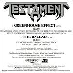 Testament - Greenhouse Effect (Single)