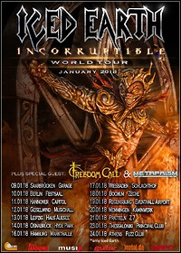 Tournews I: ICED EARTH, FREEDOM CALL & METAPRISM